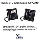 Grandstream GXV3240 Bundle of 2 Multimedia IP Phone WiFi BT PoE USB LCD SD