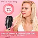 Hair Dryer Brush, IKEDON Dry, Straighten & Curl One Step Hair Dryer and Volumizer with Negative Ion forReducing Frizz and Static