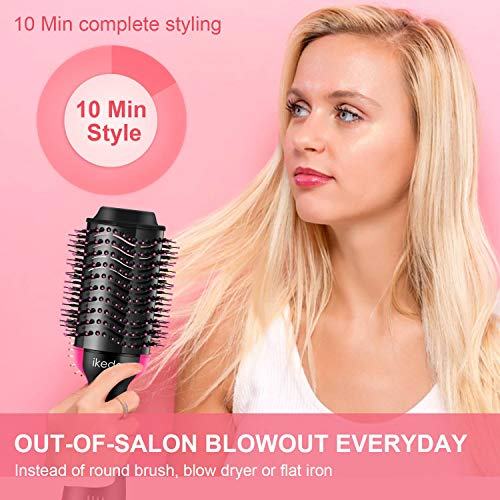 Hair Dryer Brush, IKEDON Dry, Straighten Curl One Step Hair Dryers with Negative Ion for Reducing Frizz and Static