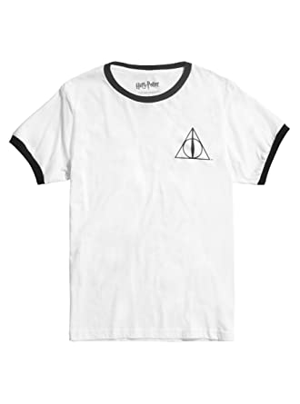 f03b758d Amazon.com: Harry Potter Deathly Hallows Ringer T-Shirt: Clothing