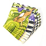 MacKenzie-Childs Spring Hare Rabbit Cocktail Napkins, Multi (40 Count)