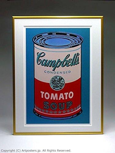 アンディ ウォーホル キャンベルスープ缶 ピンクと赤 額付ポスター ゴールド B005LN5BAU ゴールド ゴールド