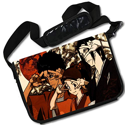 ROUNDMEUP Samurai Champloo Anime Stylish Messenger Bag/Lap Top Bag (15 x 11) Inches [MB] Samurai Cham-8