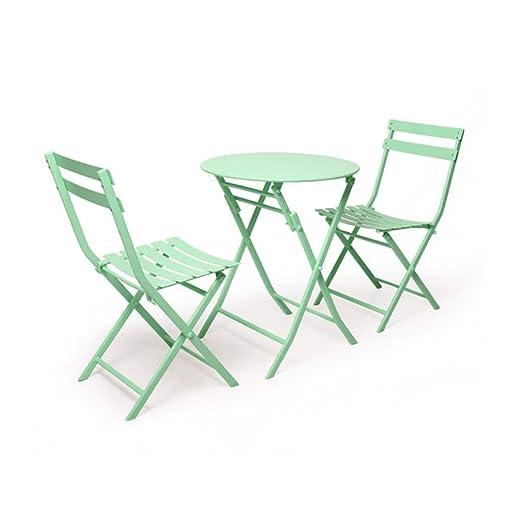 LXYFMS Juego de mesas y 2 sillas mesas y sillas de jardín ...