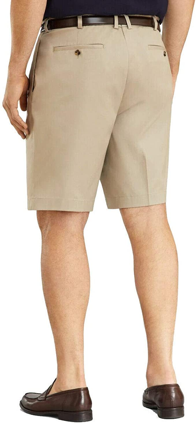 Khaki Brooks Brothers Mens 30279 Pleated Front Light Weight Chino