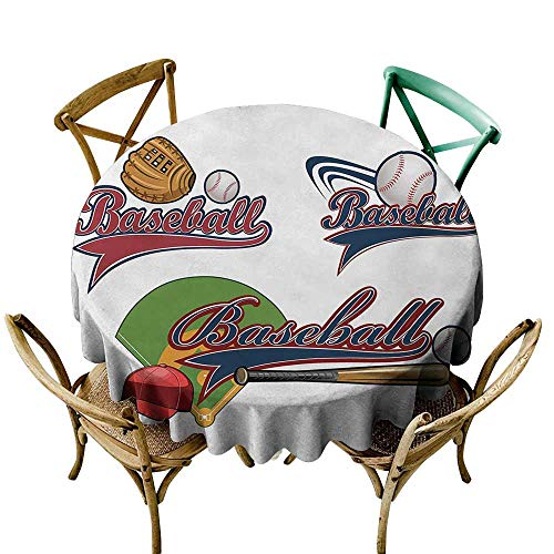 Fabric Dust-Proof Table Cover Sports Baseball Mitt Ball Bat Hardball Supplies Exercise Team Various Classical Designs Table Decoration D67 Multicolor