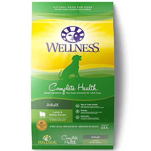 Wellness Complete Health Natural Dry Dog Food, Lamb & Barley, 15-Pound Bag