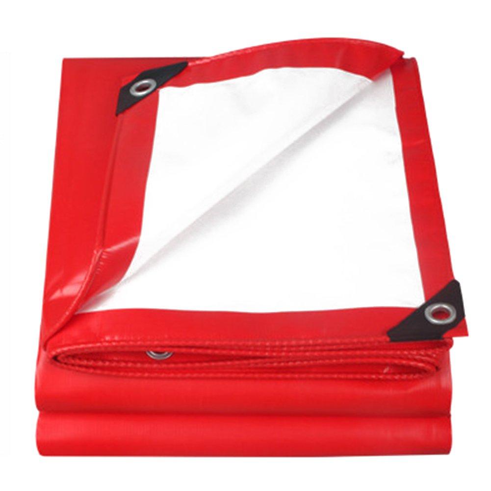 CHAOXIANG ターポリン ステージ ハッピーシェッド 耐寒性 日焼け止め プッシュプルシェッド キャンバス リノリウム PVC、 500G/㎡、 9サイズ (色 : Red+white, サイズ さいず : 4.8mx6.8m) B07FZ6D11N  Red+white 4.8mx6.8m
