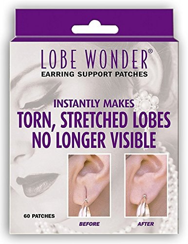 Lobe Wonder 420 Invisible Earring Ear-Lobe Support Patches - Provides Relief for Damaged, Streched Ear-Lobes and Helps Protect Healthy Ear Lobes Against Tearing