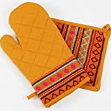 Mustard Oven Mitts & Pot Holder/ Set of 2