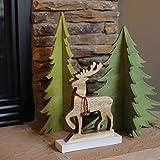 Hallmark Home Tabletop Wooden Reindeer with Jingle Bells