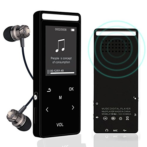 Bluetooth MP3 Player ,Newiy Start 8GB Lossless Sound Music Player Build-in Speaker Portable Touch Button Audio Player With FM Radio/Voice Recorder (Expandable UP to 64G)