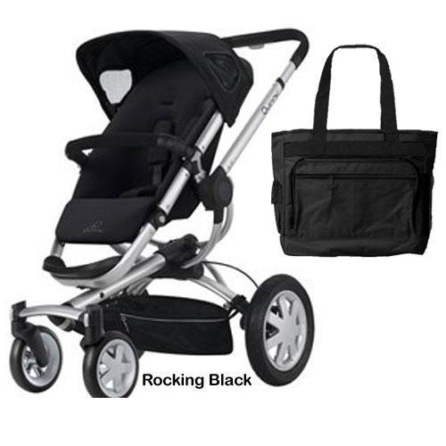 Quinny CV155RKBKIT Buzz 4 Stroller - Rocking Black With free diaper - 4 Stroller Buzz