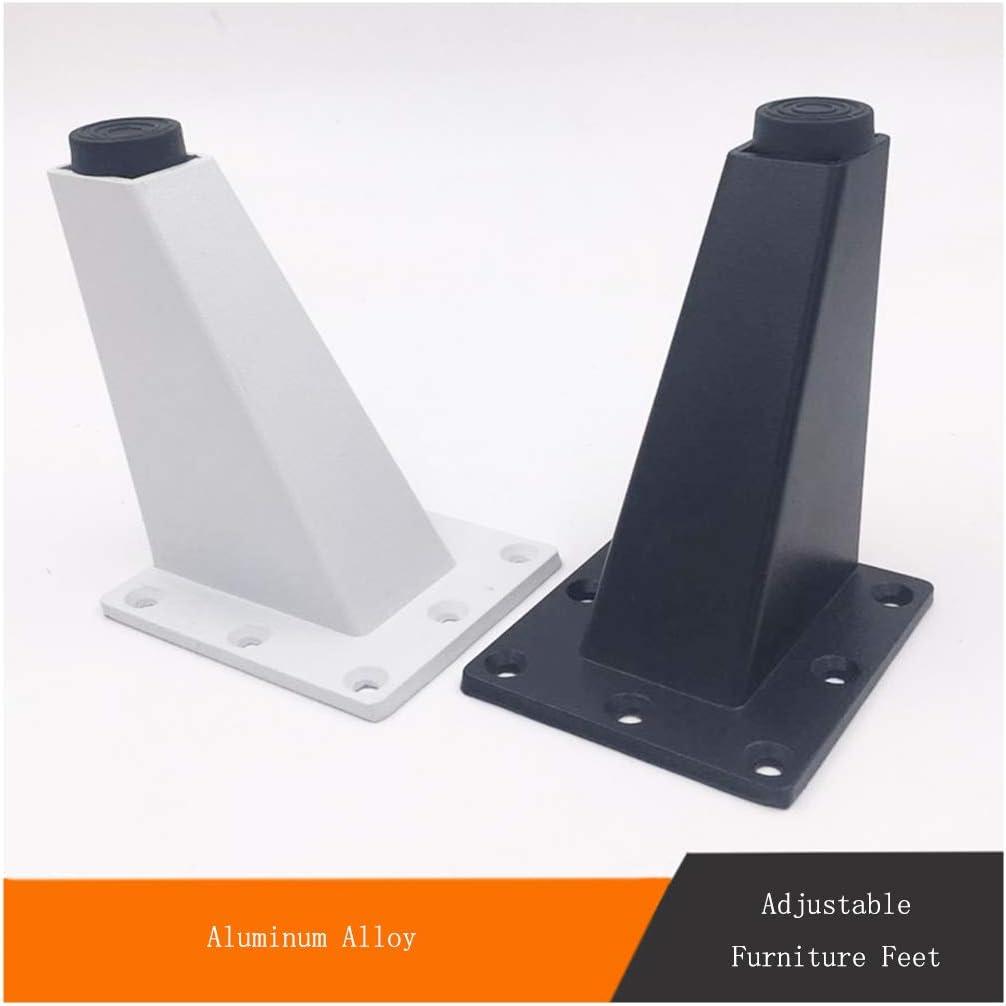 Blanco y Negro para Armarios y Mesas de Caf/é YILANJUN 4 Patas de Aleaci/ón de Aluminio para Muebles