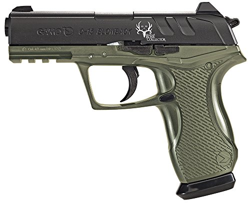 C15 Bone Collector Gamo Air Pistol SA/DA .177 Pellet & BB 16rd Black/OD (Best Pellets For Gamo Bone Collector)