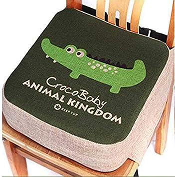 Coussinets de chaise portable avec sangles r/églables pour tout-petits enfants Coussin dappoint pour chaise de salle /à manger