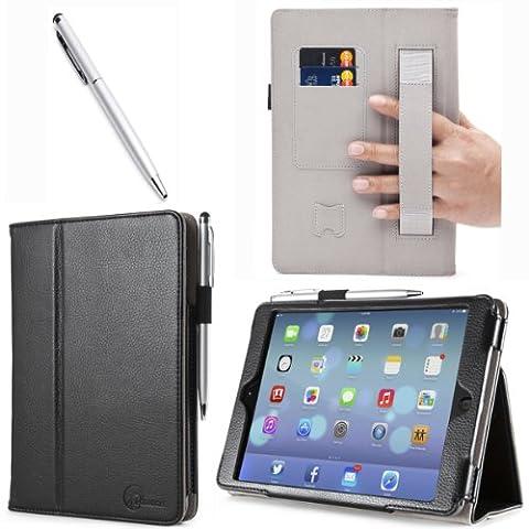 iPad Mini Case, i-Blason Apple iPad Mini 3 Case [2014 Release with Touch ID] Compatible with iPad Mini / iPad Mini with Retina Display Auto Wake / Sleep Smart Cover Leather Case (Original Ipad 4 Case)