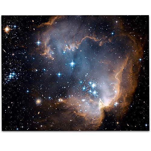 Star Cluster NGC 602 Photo from Hubble Telescope - 11x14 Unframed Art Print - Great Gift Under $15 For Space Lovers and Astronomers