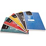 AmazonBasics College Ruled Wirebound Notebook, 100-Sheet, Assorted Sunburst Pattern Colors, 25-Pack