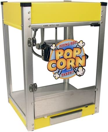 Paragon Cineplex Yellow Pop 4 Ounce Popcorn Machine for Professional Concessionaires Requiring Commercial Quality High Output Popcorn Equipment