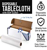 Heavy Duty Plastic Tablecloth Roll - Durable