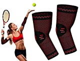 Elbow Brace RIMSports - Best Tennis Elbow Braces for Women & Men - Premium Elbow Sleeve - Best Compression Arm Sleeve- Preferred Large, Medium, Small Tennis Elbow Brace (Red, L)