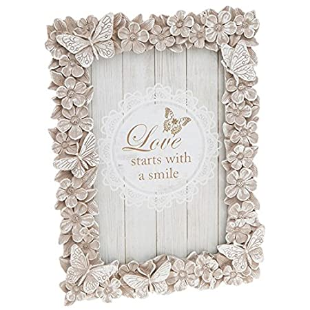 Floral Butterfly Frame 4x6 Inch: Amazon.co.uk: Kitchen & Home