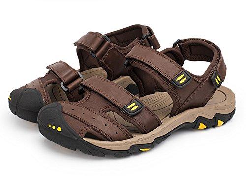 pescatore in punta in antiscivolo pantofole scarpe a spiaggia uomo acqua pelle A all'aperto uomo da estate suole sandali vera sandali da gomma chiusa Pakamo NANXIE qxURIZw8x