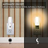 Emotionlite Pack of 4 Plug in LED Night Light with Dusk to Dawn Sensor Kids Nursery Light Warm White 2700K Classic Kit