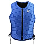 MagiDeal Men Women Kids Royal Blue Horse Riding Waistcoat Safety Equestrian Eventing Body Guard Protection Vest