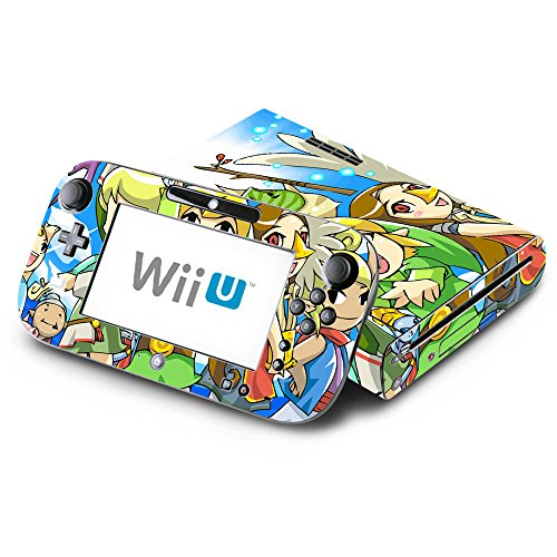 The Legend of Zelda: The Wind Walker Four Swords Decorative Decal Cover Skin for Nintendo Wii U Console and GamePad