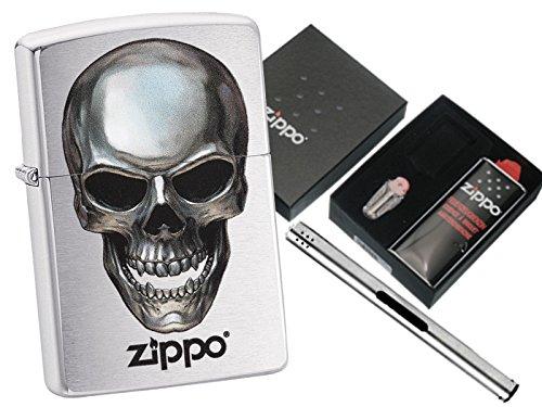 Zippo Zippo Zippo Metal Skull mit Zippo Geschenkset und L.B Chrome Stabfeuerzeug B07CN9NM9C Feuerzeuge f489ef