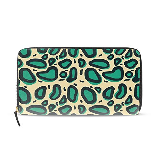 (Leopard Skin Custom Girl Zipper Wallets Clutch Coin Phone Case for Women Men)