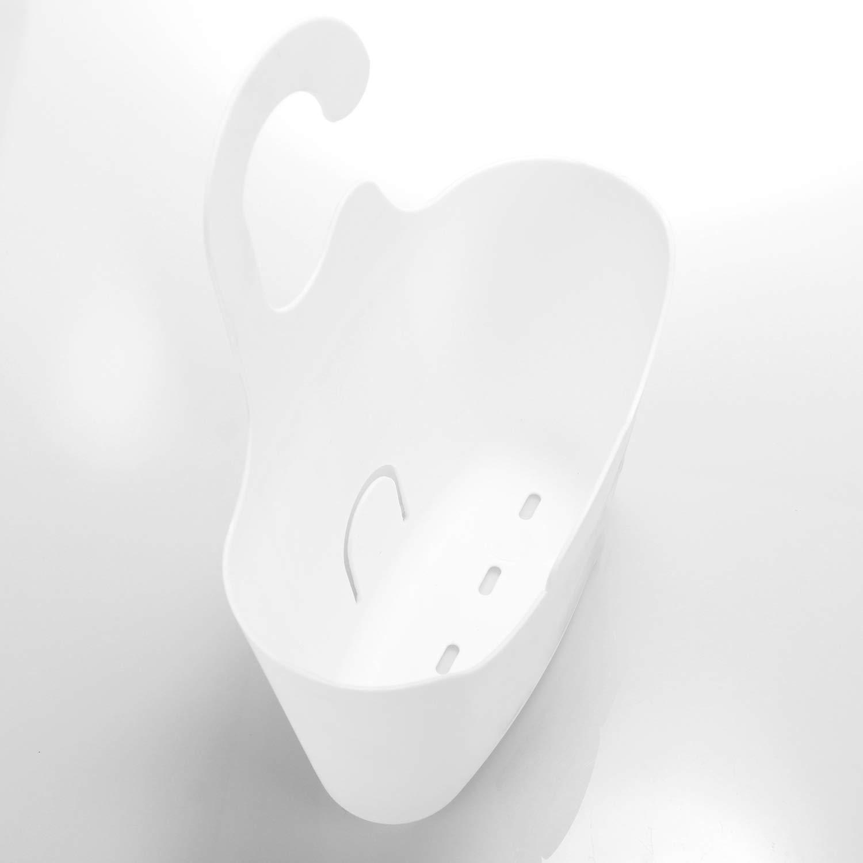 Estante de Ducha para Colgar Soporte de Gel de Ducha para Colgar Estante de Ducha Cesta Colgante para la Ducha com-four/® 2X Cesta de Ducha en Blanco con Ganchos