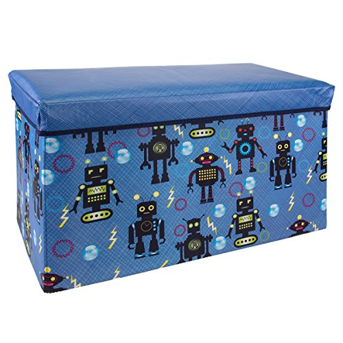 Kids Storage Bench Ottoman Collapsible Toy Chest Foldable Bin Playroom Trunk Seating