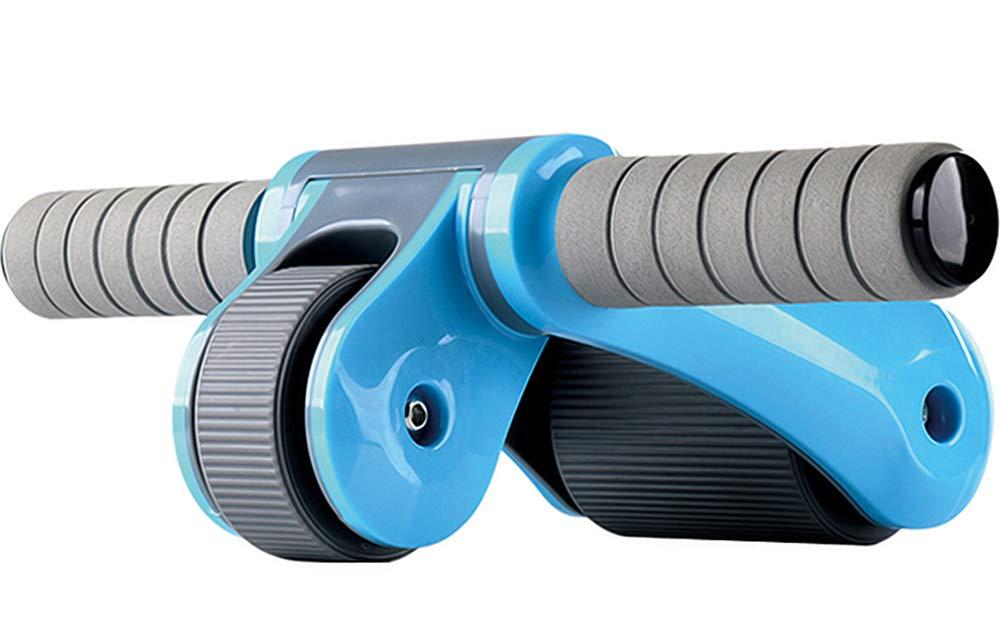 Ab 2-Rad Faltbare Walze Mit TPR-Rädern Core Bauchmuskeln Training Rutschfeste ABS-Halterung & Kniepolster Breiter Grau Und Blau