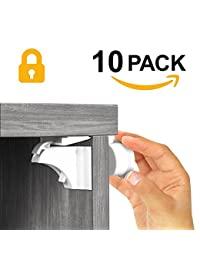 ELLA'S MAGNETIC CABINET LOCKS | No Tools Needed - 3M Adhesive | Amazing for Baby Proofing Kitchen & Child Locks | Quality Design | Child Safety | Baby Locks | White BOBEBE Online Baby Store From New York to Miami and Los Angeles