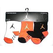 Nike Air Jordan Newborn Baby Socks, 3 PAIRS, Size 06 - 12 Months