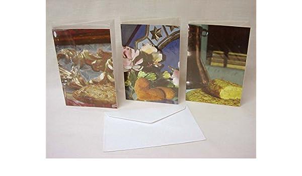Desconocido Set 3 Tarjetas Postales Doble con Sobre Alimentos ...