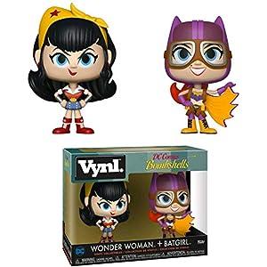 51kUMuYiAML. SS300 Funko Vynl: Dc Bombshells - Wonder Woman and Batgirl 2Pack Collectible Figure, Multicolor