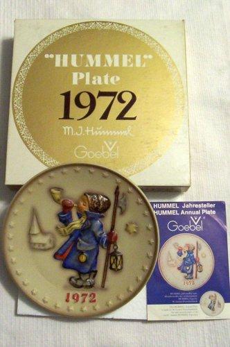 HTF--1972 Goebel Hummel Annual Plate in Original Box -- Mint Condition!!! (Mint Hummel)