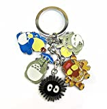 SUNKEE New Anime Tonari no Totoro 5 Cute Pendants Metal Keychain Keyrings (Tonari no Totoro) by Sunkee