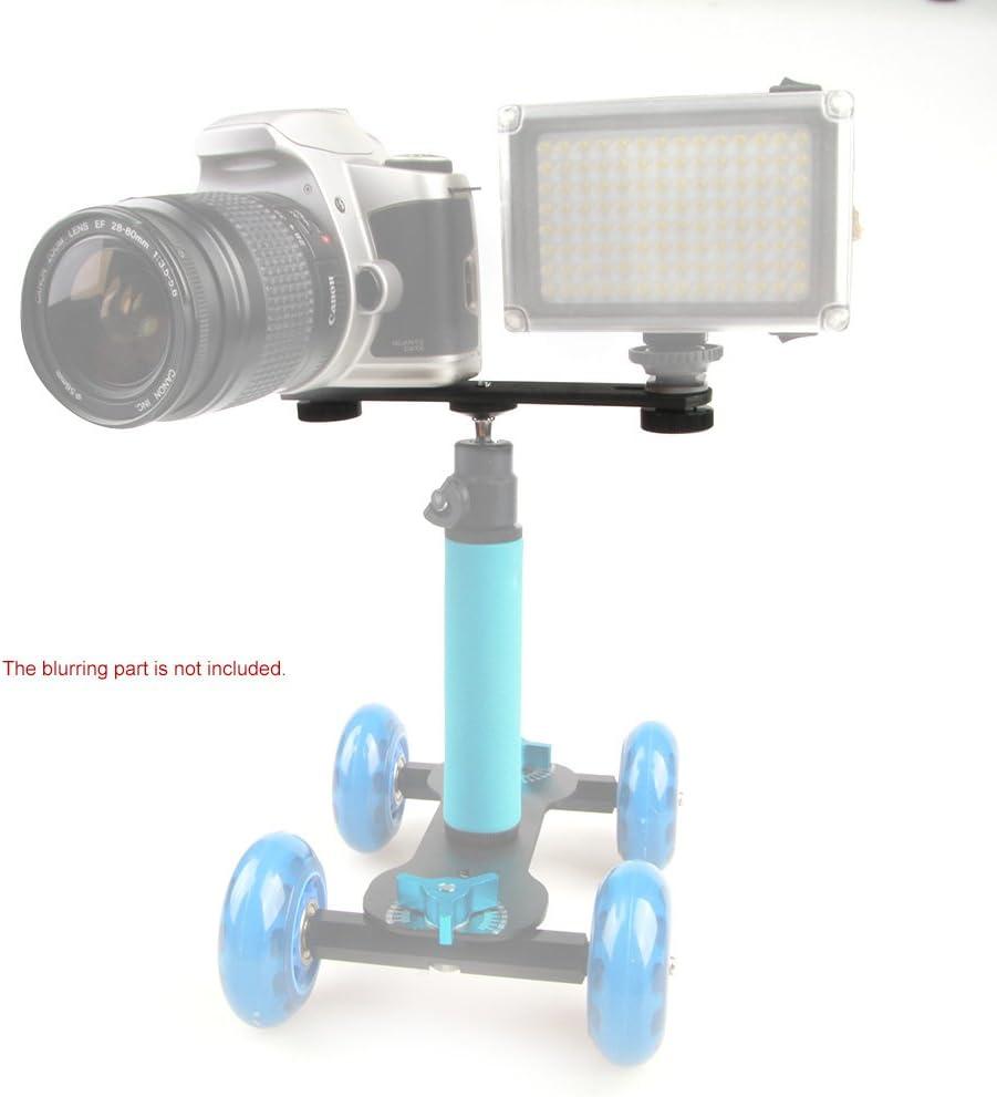 Andoer Double Flash Bracket 1//4 Mounting Screw for Speedlite Video Light Hand Grip Camera Hot Shoe