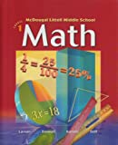 Middle School Math, Course 1, MCDOUGAL LITTEL, 0618087591