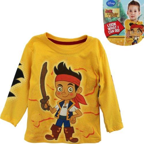 Disney Little Boys' Jake Knit T-Shirt, Yellow, 2T ()