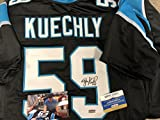 Luke Kuechly Autographed Signed Carolina Panthers Custom Jersey Radtke Sports Hologram & COA w/photo from signing