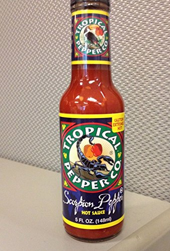 Price comparison product image TROPICAL PEPPER,  Sauce,  Scorpion Pepper,  Pack of 12,  Size 5 FZ,  (Dairy Free Kosher Vegan)