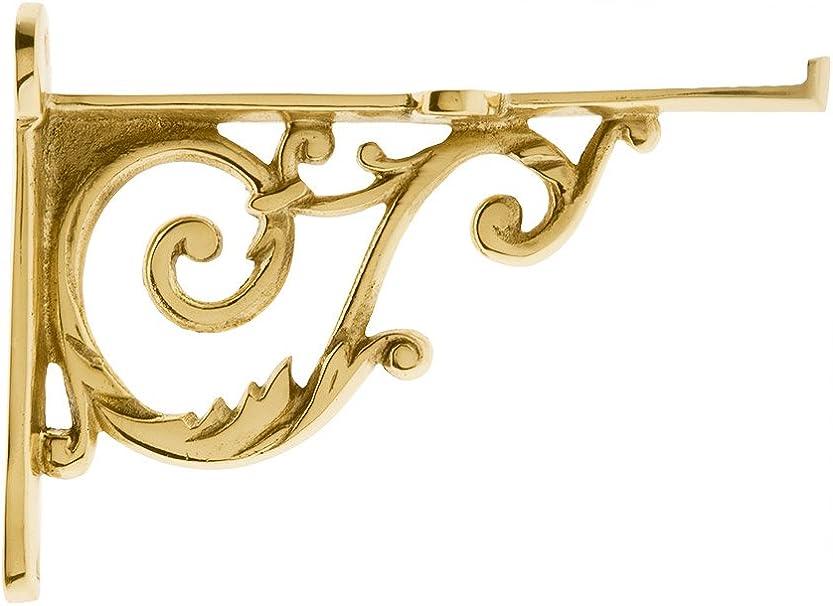 Details about  /Pair of Vintage Classic Old Victorian Scroll Shelf Bracket Brace Cast show original title