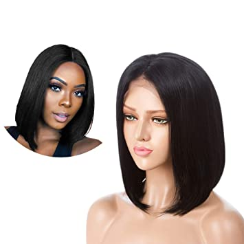 Hair Extensions & Wigs Lace Wigs Beautiful Queen Brazilian Grey Bob Lace Front Human Hair Wigs With Baby Hair Lace Front Wig Remy Hair Pre Plucked Bleached Knots