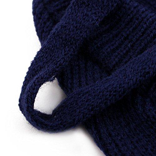 Amazon.com : eDealMax Patrón Raya de Lana Para mascotas de peluche de Punto de invierno capa del suéter Caliente del Traje de la Chaqueta de ropa de la ropa ...